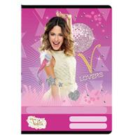 Violetta vonalas füzet - A4 - pink