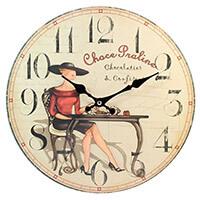 Choco Praline falióra - 17 cm - fekete kalapos nővel