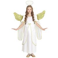 Angyal jelmez - fehér/arany - 128 méret